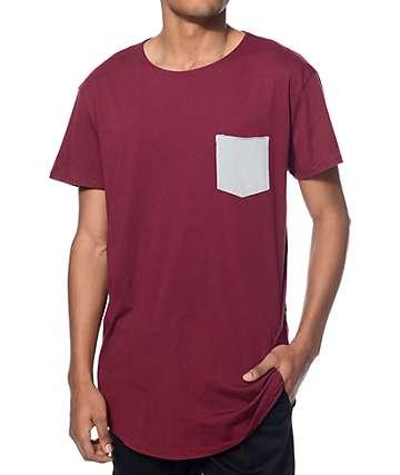 Neff Bosley Burgundy Long Pocket T-Shirt
