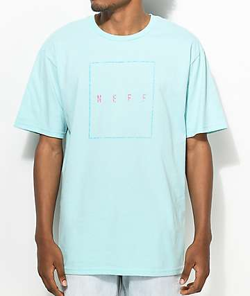 Neff Box Logo camiseta en color turquesa
