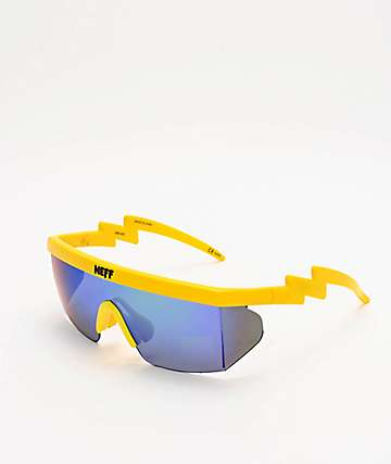 Neff Brodie Single Lens Highlighter Yellow Sunglasses