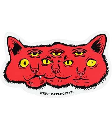 Neff Catlective pegatina roja
