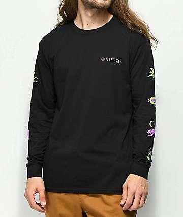 Neff Critter camiseta negra de manga larga