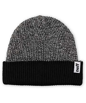 Neff Cuff Black & Grey Reversible Beanie