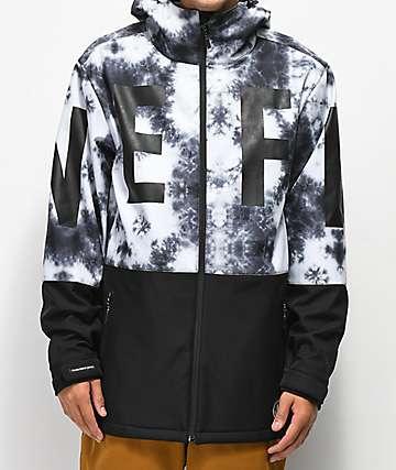 Neff Daily 10K chaqueta de snowboard negra y blanca