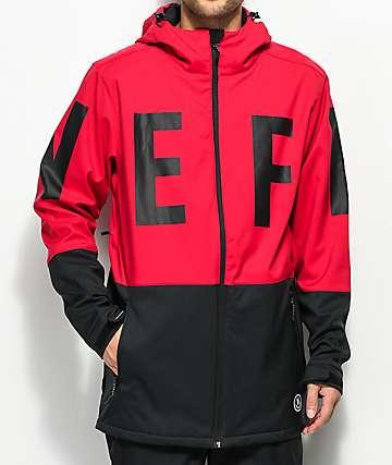 Neff Daily 10K chaqueta roja y negra
