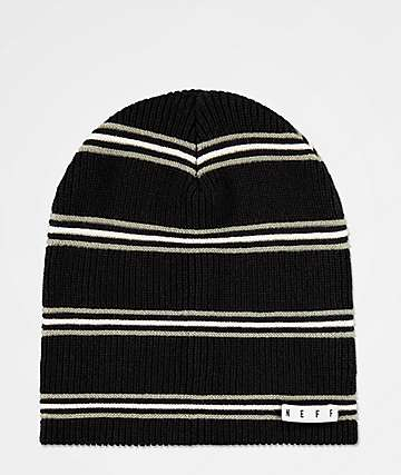 Neff Daily Black & Charcoal Stripe Beanie