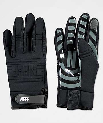Neff Daily Black Pipe Snowboard Gloves