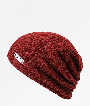 6fb593d2767 Neff Daily Heather Red   Black Beanie
