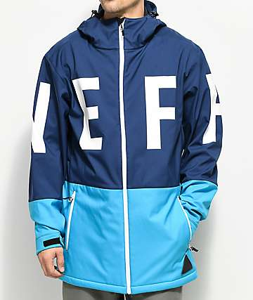 Neff Daily Navy Cyan 10K Softshell Jacket