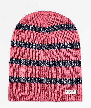 990cf8294fd Neff Daily Rose Sparkle Stripe Beanie