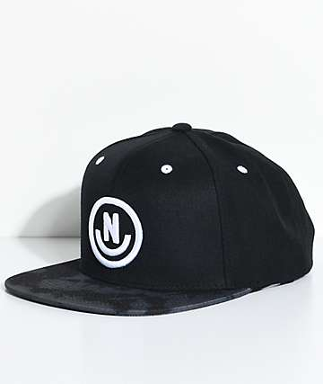 Neff Daily Smile Black Wash Snapback Hat