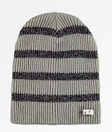 Neff Daily Sparkle Stripe Grey Beanie