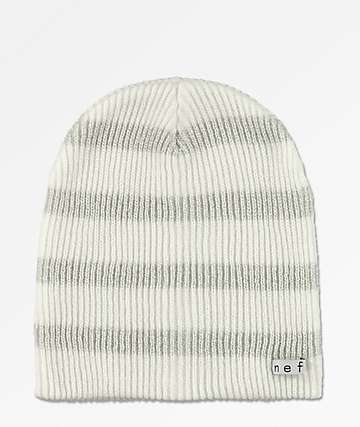 Neff Daily Sparkle Stripe White Beanie