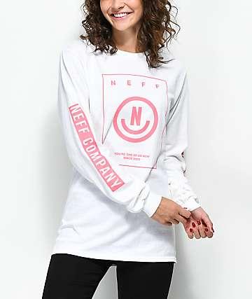 Neff Dansu camiseta blanca de manga larga