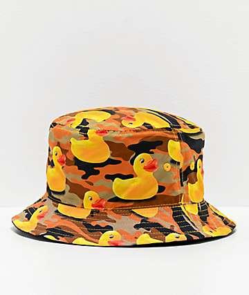 Neff Ducky Skipper Orange Camo Bucket Hat