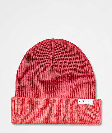 09b9df14a4629 Neff Duo Red Washed Beanie
