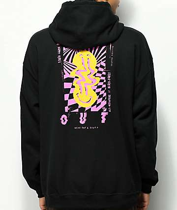 Neff Far Out Black Pullover Hoodie