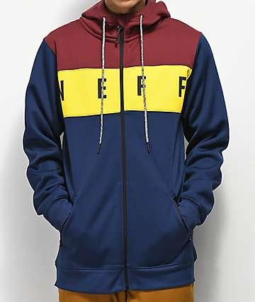 Neff Flint sudadera de polar técnico en azul, rojo y amarillo