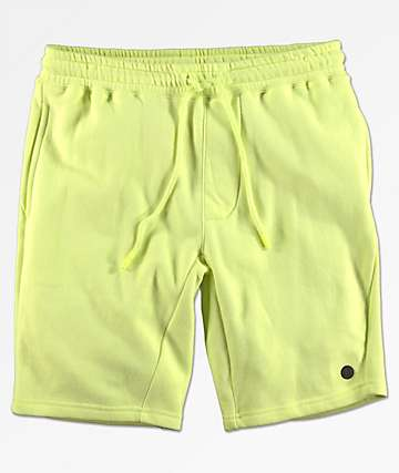 Neff Flow shorts de punto en color amarillo