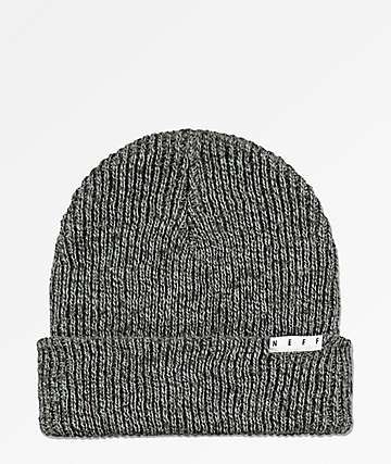 bfd776b5a24 Neff Fold Black Charcoal Heather Beanie