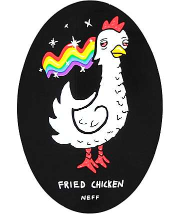 Neff Fried Chicken Black Sticker