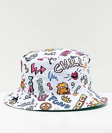 Neff Funk Skipper White Bucket Hat