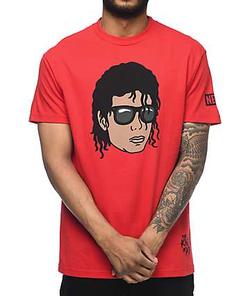 Neff King Michael Jackson Red T-Shirt