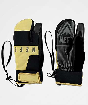 Neff Klaw Tan & Black Snowboard Mittens