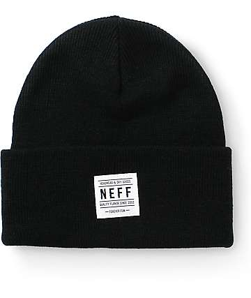 Neff Lawrence Black Beanie