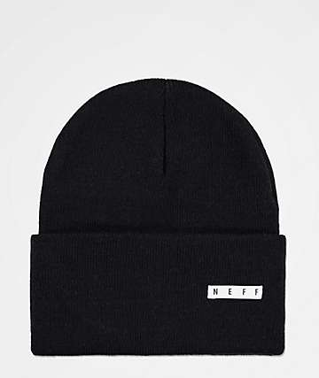 8ad5bf2d02e Neff Lawrence Black Fold Beanie