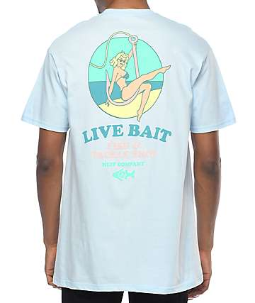Neff Live Bait Light Blue T-Shirt