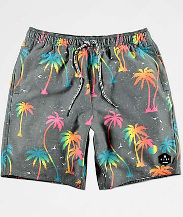 Neff Night Wilder Grey Hot Tub Board Shorts