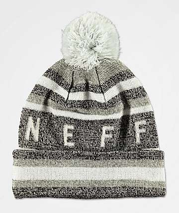 Neff Nightly Tailgate Black & Grey Glow Pom Beanie
