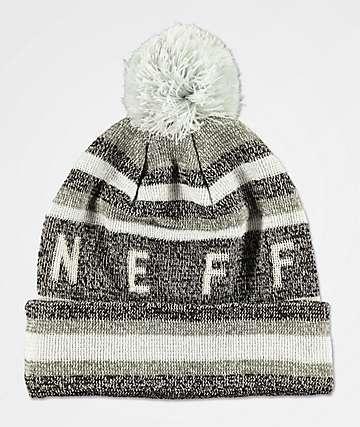 Neff Nightly Tailgate gorro negro y gris con pompón