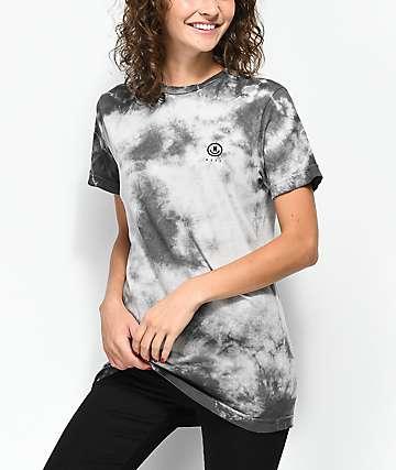 Neff Nikki camiseta gris con efecto tie dye