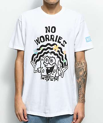 Neff No Worries Spongebob White T-Shirt