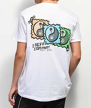 Neff Palm Yang White T-Shirt
