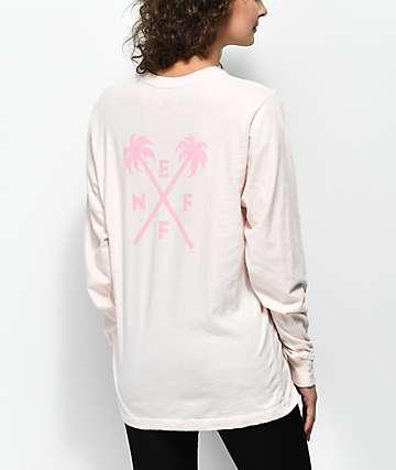 Neff Palmcross camiseta de manga larga en color melocotón