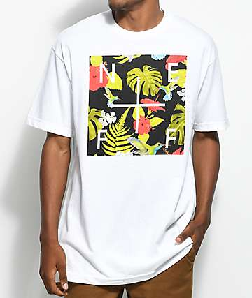 Neff Plus Floral Box camiseta blanca