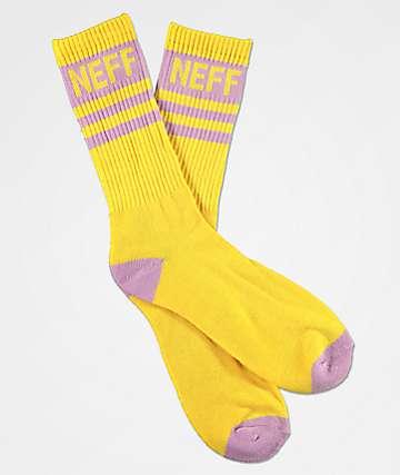Neff Promo Amber Violet Crew Socks