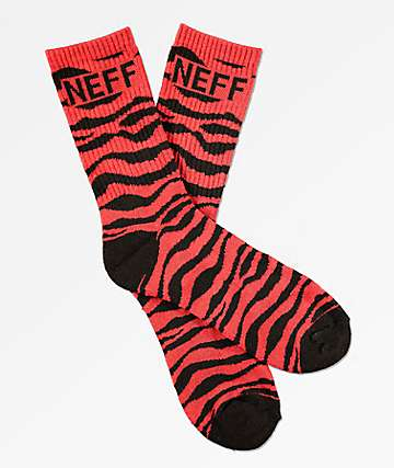 Neff Promo Burgundy & Black Crew Socks