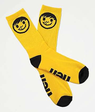 Neff Promo Kenni Amber & Black Crew Socks