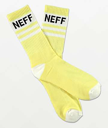 Neff Promo Lemonade Yellow Crew Socks