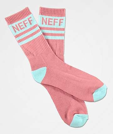 Neff Promo Mint & Roswewood Crew Socks