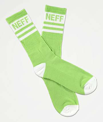 Neff Promo Pear & White Crew Socks