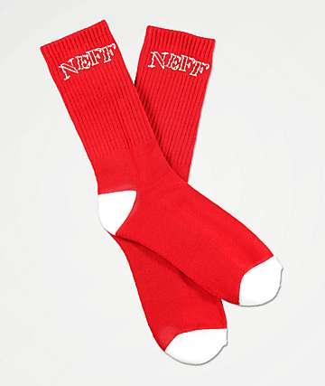 Neff Promo Stencil Haute Red Crew Socks