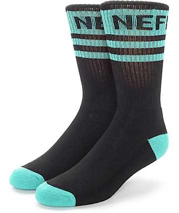 Neff Promo calcetines en negro y verde azulado