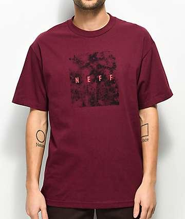 Neff Quad camiseta borgoña