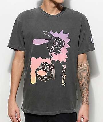 Neff Ren & Stimpy Black T-Shirt
