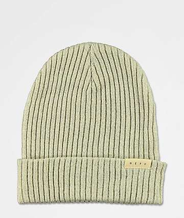 Neff Ride Lurex gorro de color crema