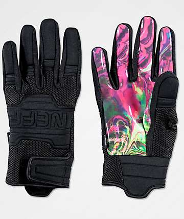 Neff Rover Eiki Black Pipe Snowboard Gloves